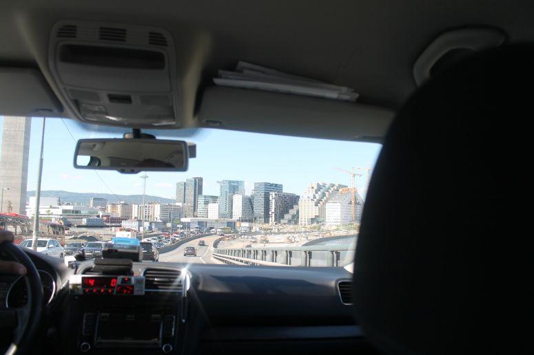 Driving into Oslo CIty