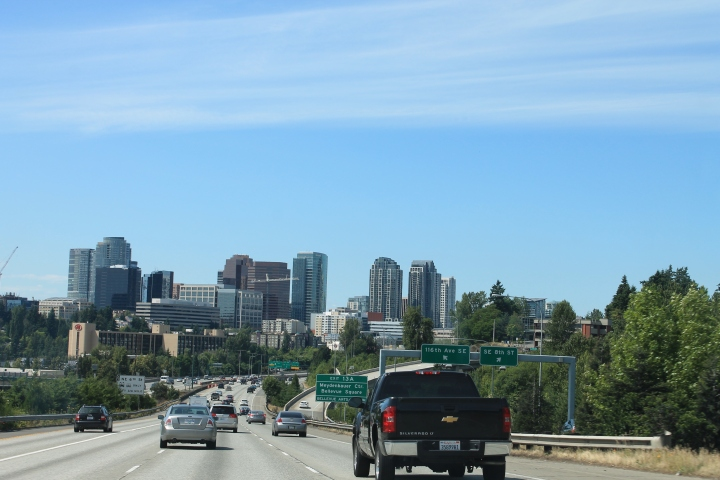 Driving into Bellevue, love this city.