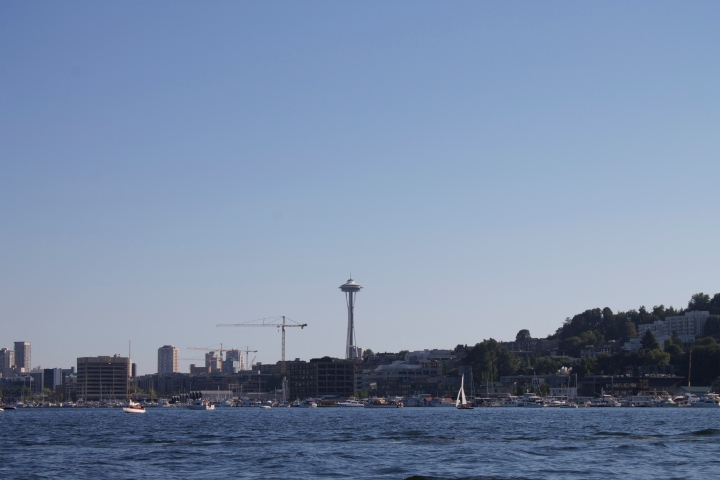 The Space Needle from the lake